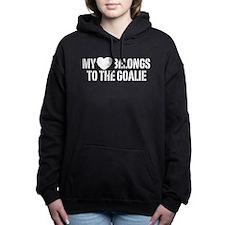 Cute I heart hockey moms Women's Hooded Sweatshirt