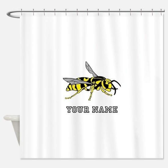 Wasp (Custom) Shower Curtain