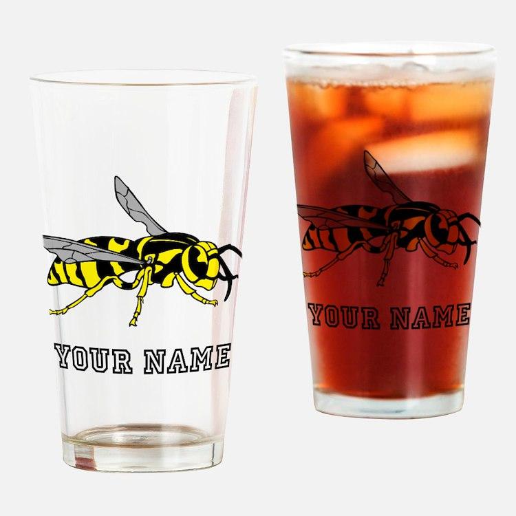Wasp (Custom) Drinking Glass