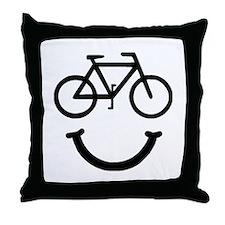Bike Smile Throw Pillow