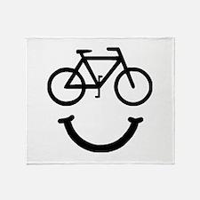 Bike Smile Throw Blanket
