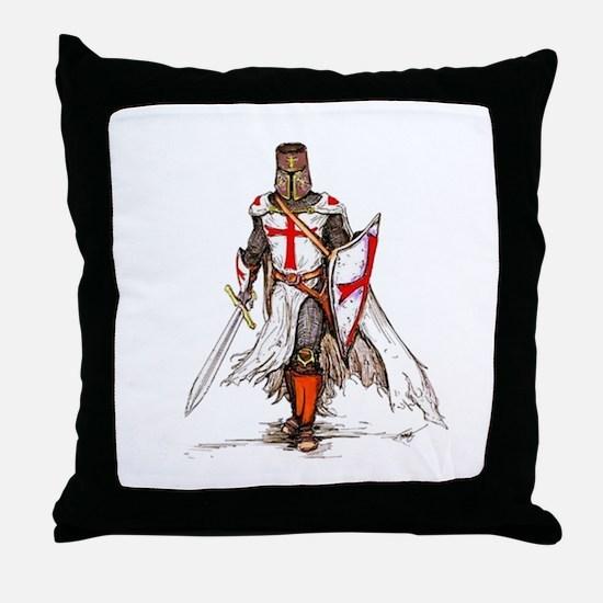 Templar Knight Throw Pillow