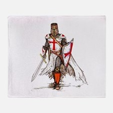 Templar Knight Throw Blanket