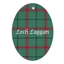 Tartan - Loch Laggan dist. Ornament (Oval)