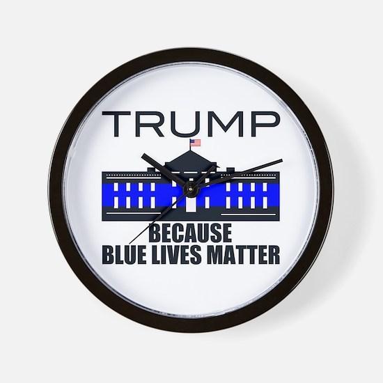 Trump men in blue Wall Clock