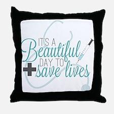 Greys Anatomy Beautiful Day Throw Pillow