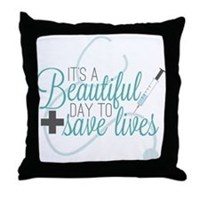 Grey's Anatomy:A Beautiful Day Throw Pillow
