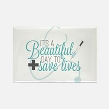 Greys Anatomy Beautiful Day Rectangle Magnet