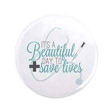 Greys Anatomy Beautiful Day Button