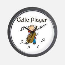 Cello Player Wall Clock