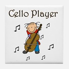 Cello Player Tile Coaster
