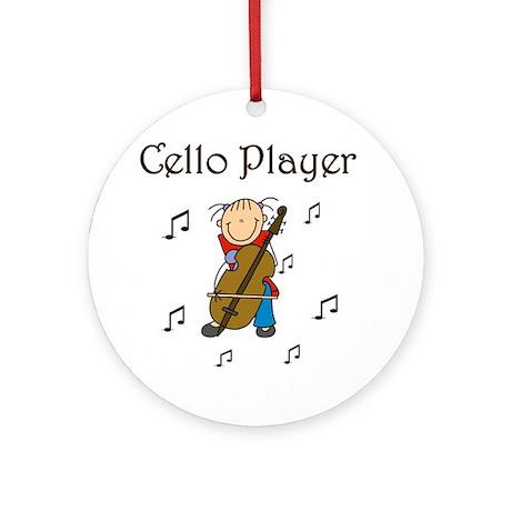 Cello Player Ornament (Round)