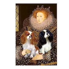 Queen Elizabeth I & Cavalier King Pair Postcards (