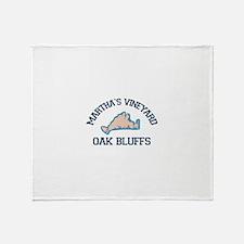 Oak Bluffs - Martha's Vineyards. Throw Blanket