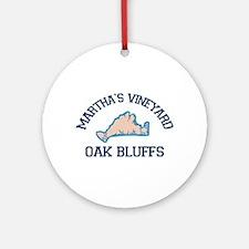 Oak Bluffs - Martha's Vineyards. Ornament (rou