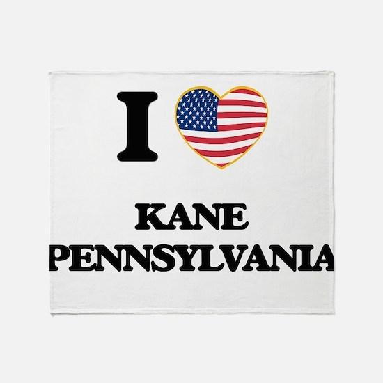 I love Kane Pennsylvania Throw Blanket