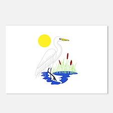 Egret Scene Postcards (Package of 8)
