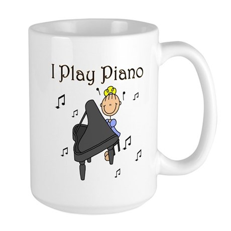 I Play Piano Large Mug