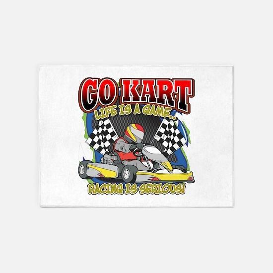 Go Kart Life 5'x7'Area Rug