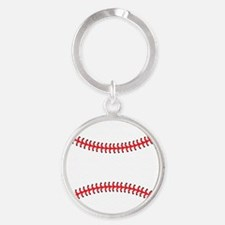 Baseball Round Keychain