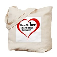 Smooth Haired Dachsund Tote Bag