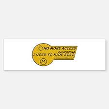 I used to ride solo Bumper Bumper Bumper Sticker
