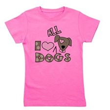 Cute I rescue dogs Girl's Tee