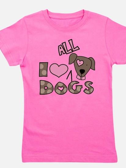 Cute Dog animal Girl's Tee