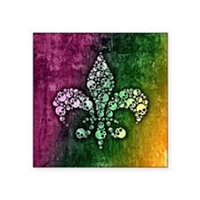 "Unique Mardi gras Square Sticker 3"" x 3"""