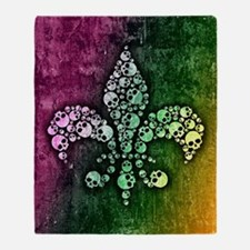 Cute Fleur de lis Throw Blanket