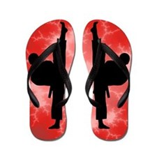 Karate Martial Arts Kick Boy Flip Flops