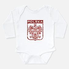 Cute Polish and proud Long Sleeve Infant Bodysuit