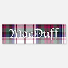 Tartan-MacDuff dress Bumper Bumper Sticker