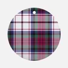 Tartan-MacDuff dress Ornament (Round)