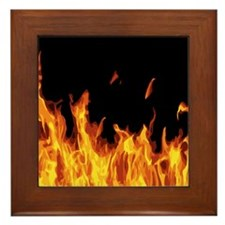 Flames Framed Tile