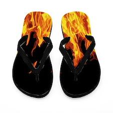 Flames Flip Flops