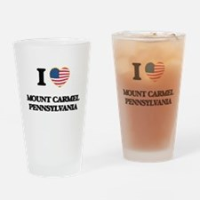 I love Mount Carmel Pennsylvania Drinking Glass