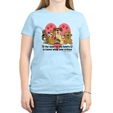 The Road To My Heart Dog Paw T-Shirt