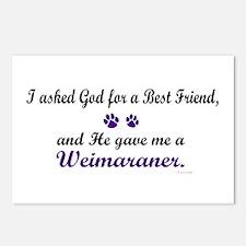 God Gave Me A Weimaraner Postcards (Package of 8)