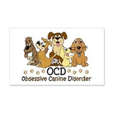 OCD Obsessive Canine Disorder Wall Sticker