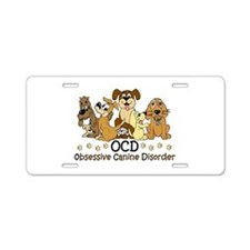 OCD Obsessive Canine Disord Aluminum License Plate