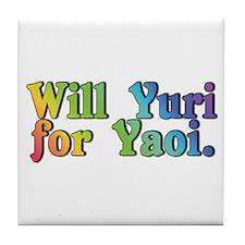 Yuri4yaoi Tile Coaster