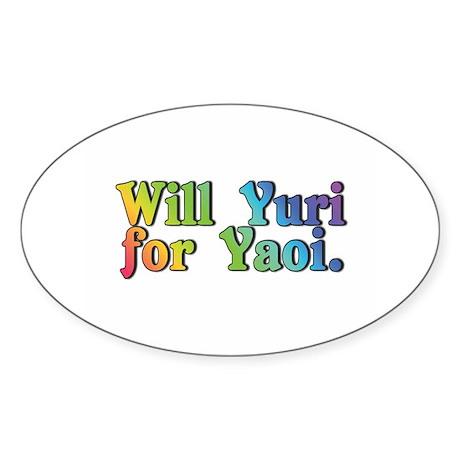 Yuri4yaoi Oval Sticker