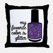 Funny Manicure Throw Pillow