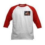 TERRIER WITH FLOWERS Kids Baseball Jersey