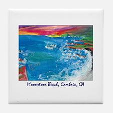 Moonstone Beach, Cambria CA Tile Coaster