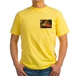 TERRIER WITH FLOWERS Yellow T-Shirt