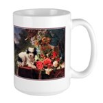 TERRIER WITH FLOWERS Large Mug