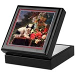 TERRIER WITH FLOWERS Keepsake Box