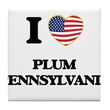 I love Plum Pennsylvania Tile Coaster